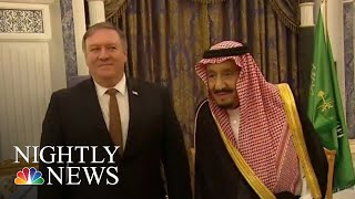 Pompeo Meets With King, Crown Orince In Saudi Arabia Amid Khashoggi Disappearance | NBC Nightly News - NBCNEWS
