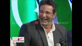 'Teri..!' Wasim Akram's Response After Harbhajan Singh Hit Him For A Boundary | Salaam Cricket 2018 - AAJTAKTV