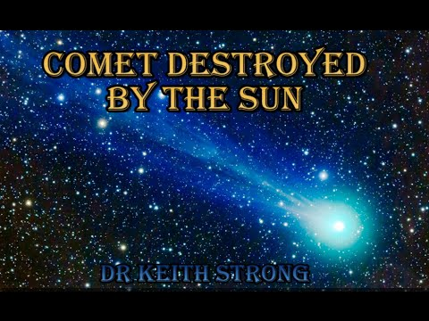 COMET PLUNGES INTO THE SUN'S ATMOSPHERE