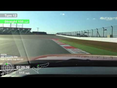 COTA lap in a C6 Z06