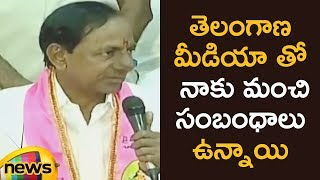 KCR punch to Journalist Over his Repeated Questions | KCR Press Meet | Mango News - MANGONEWS