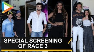 SALMAN KHAN Hosts special screening of Race 3 movie entry shot 02 - HUNGAMA