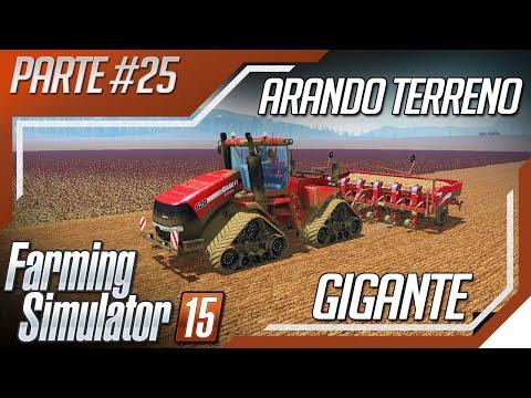 Farming Simulator 2015 - Arando e Plantando Ervilha - Terreno Gigante com Mod Mapa Pinheiral