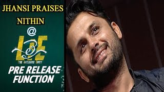 Jhansi Praises Nithin at #LIE Movie Pre Release Event - 14REELS