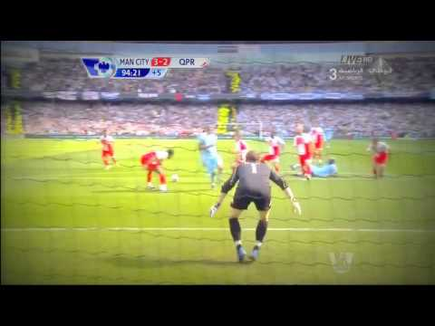 Crazy Arabic Commentator Reaction To Sergio Aguero's Goal vs QPR (13--05--2012) [HD].