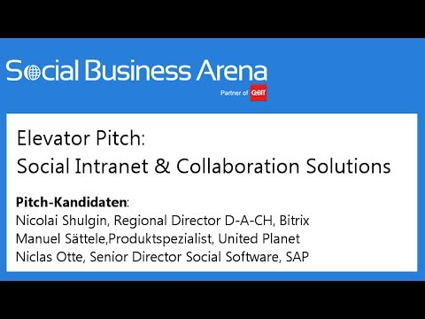 #cebitsba 2014 | Elevator Pitch: Bitrix, United Planet & SAP
