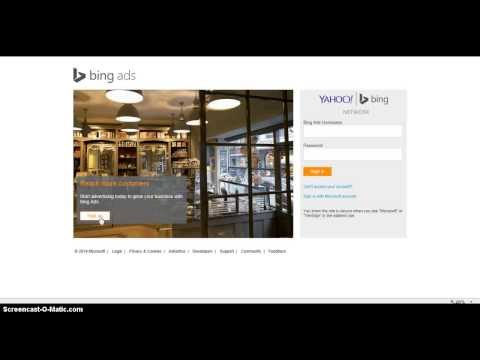 Bing Ads Account Signup