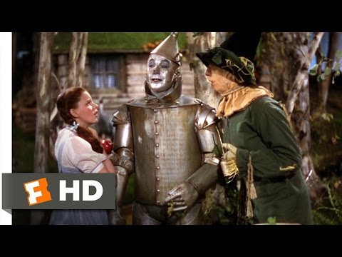 Finding The Tin Man Scene - The Wizard of Oz Movie (1939) - HD