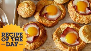 Recipe of the Day: Cheesy Biscuit Egg-in-a-Hole | Food Network - FOODNETWORKTV