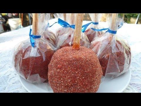 Receta de  manzanas con chamoy / Applesauce Recipe chamoy