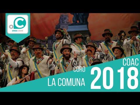 La agrupación La Comuna llega al COAC 2018 en la modalidad de Coros. En años anteriores (2017) concursaron en el Teatro Falla como A toda máquina, consiguiendo una clasificación en el concurso de Preliminares.