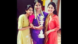 Sai Pallavi With Her Sister Pooja At Cousin's Mehndi Function With Family - RAJSHRITELUGU
