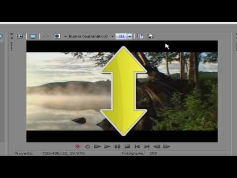 Quitar lineas Horizontales y verticales, fondo negro en videos o imagenes en sony vegas