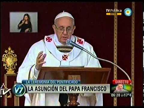 Asumió el Papa Francisco y pidió vivir disponible al proyecto de Dios