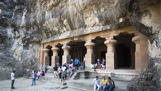 Elephanta Caves get electrified after 70 years of Independence - TIMESOFINDIACHANNEL