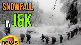 Beauty Of Jammu & Kashmir, Heavy Snow Fall covering Mountains | Mango News - MANGONEWS