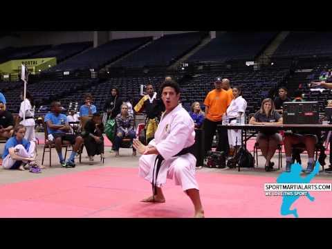 Justin Ortiz - Traditional Form - Kratos World Karate Championships 2014
