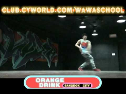 WAWA DANCE ACADEMY ORANGE CARAMEL BANGKOK CITY DANCE STEP MIRRORED MODE