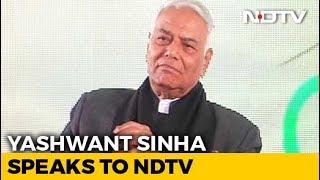 """Me,"" Says Yashwant Sinha On Next Prime Minister. He Explains - NDTV"