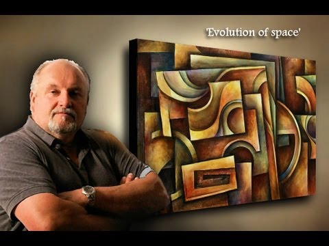 painting Demo. creating depth with shading and color, Basic geometric design, ABSTRACT ART