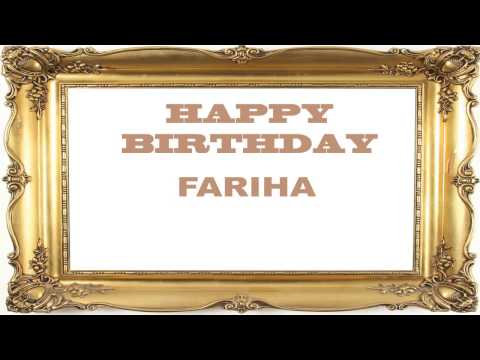 Fariha   Birthday Postcards & Postales