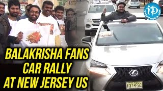 Balakrisha Fans Car Rally At New Jersey US To Welcome Gautamiputra Satakarni Movie - IDREAMMOVIES