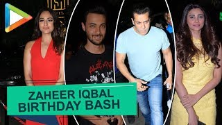 Salman Khan, Sonakshi Sinha, Daisy Shah, Aayush Sharma & others at Saheer Iqbal' B'DAY party - HUNGAMA