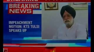 Impeachment motion: KTS Tulsi speaks up, says was not consulted by Cong on moving motion - NEWSXLIVE