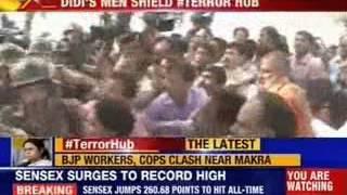Massive clash between BJP workers and Cops in Birbhum - NEWSXLIVE