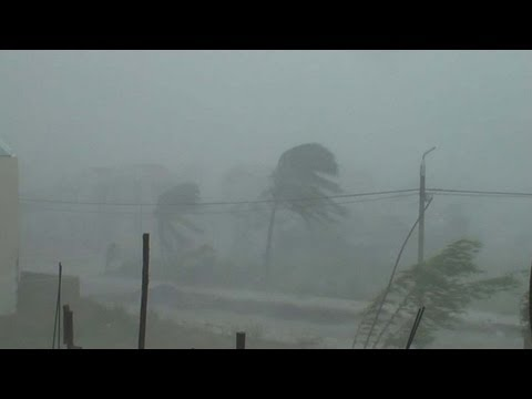 Typhoon Xangsane Extreme Hurricane / Cyclone Stock Footage Screener PAL 720x576