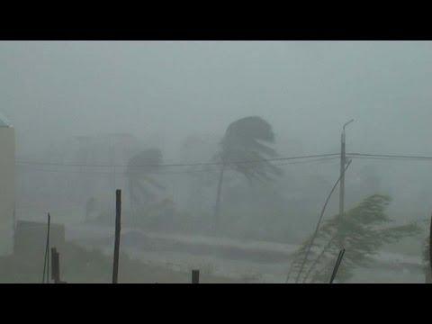 Typhoon Xangsane Extreme Hurricane / Cyclone Stock Footage Screener PAL 720x576
