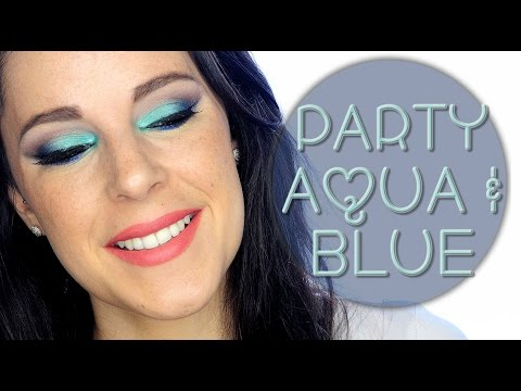 Aqua and blue Christmas makeup tutorial | Silvia Quiros
