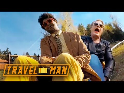 Richard Ayoade and Eddie Izzard Go Tobogganing | 48hrs in...Ljubljana