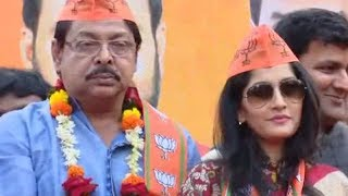 Famous Odia actors Mihir Das, Anu Choudhury join BJP - TIMESOFINDIACHANNEL
