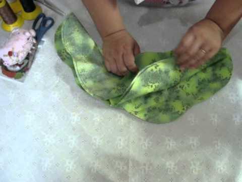 Como costurar uma guirlanda de tecido