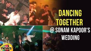 Salman, Shahrukh And Ranveer   DANCING TOGETHER at Sonam Kapoor's Wedding Reception   Mango News - MANGONEWS