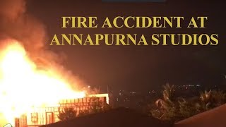 Breaking: Fire accident at Annapurna Studios in Hyderabad - IGTELUGU