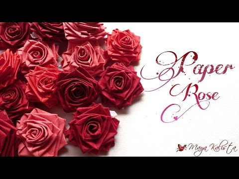 How to make Easy Paper Roses using paper strips - Paper Crafts -  Quick