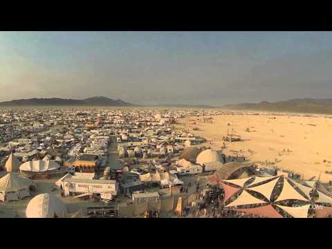 Drone's eye view of Burning Man 2013