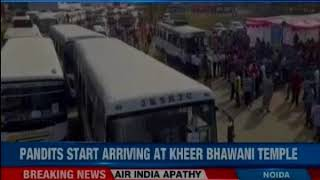 J&K government gives free transport from Delhi, Jammu; Pandits start arriving at Kheer Bhawni Temple - NEWSXLIVE
