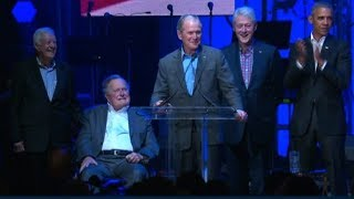 Former Presidents speak at relief concert - CNN