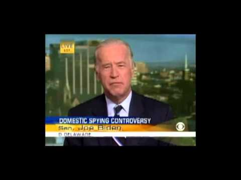 Thumbnail of video Biden in 2006 schools Obama in 2013 over NSA spying program
