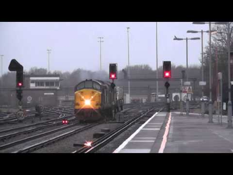 (HD) 37194 + 37510 TOP THRASH Through Tonbridge On 6O62 Flasks - 2/2/12