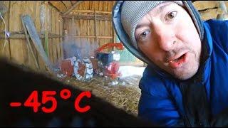 Заводим мотоблок Беларус в мороз -45°C !!!