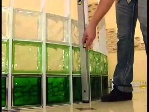 SEVES Quicktech - Sistema de instalação para paredes curvas blocos de vidro