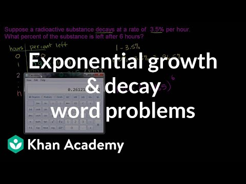Word Problem Solving- Exponential Growth and Decay