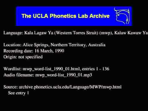 Kala Lagaw Ya audio: mwp_word-list_1990_01