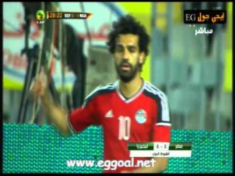 اهداف و ملخص مباراة مصر ونيجيريا  29-3-2016||  تصفيات كأس امم افريقيا الجابون 2017, جول رمضان صبحى