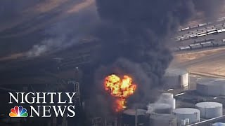 Several Injured After Explosion At Wisconsin Oil Refinery | NBC Nightly News - NBCNEWS