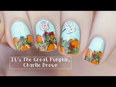 It's The Great Pumpkin, Charlie Brown | Nail Art
